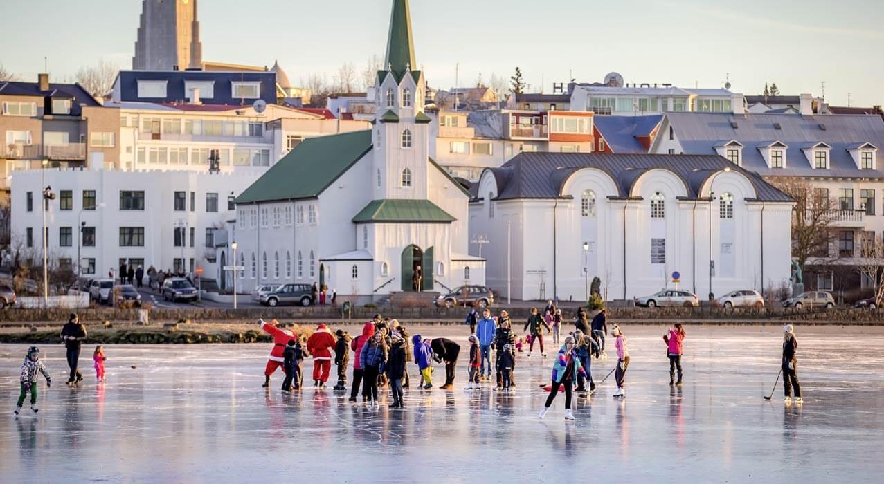 Reykjavik City im Winter